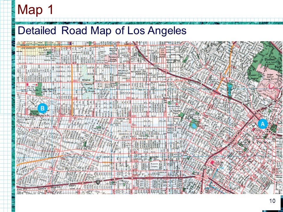 Detailed Road Map of Los Angeles Map 1 10