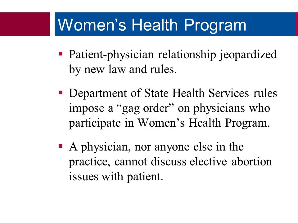  Patient-physician relationship jeopardized by new law and rules.