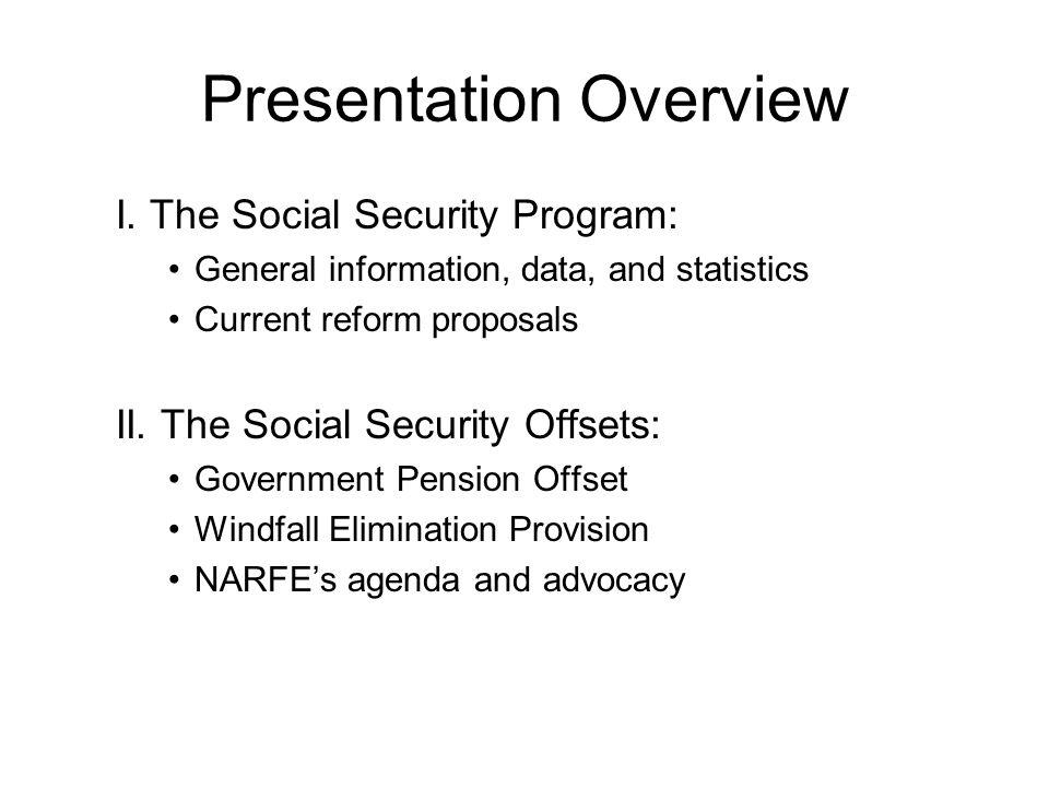 Presentation Overview I.