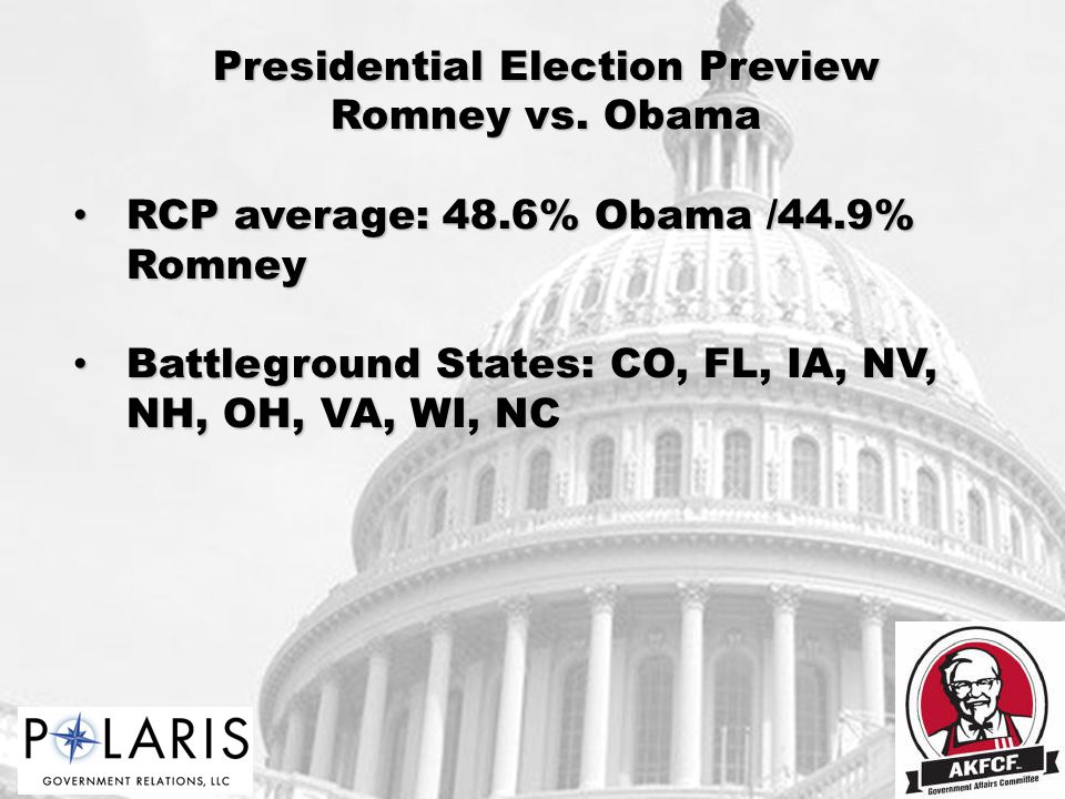 Presidential Election Preview Romney vs.