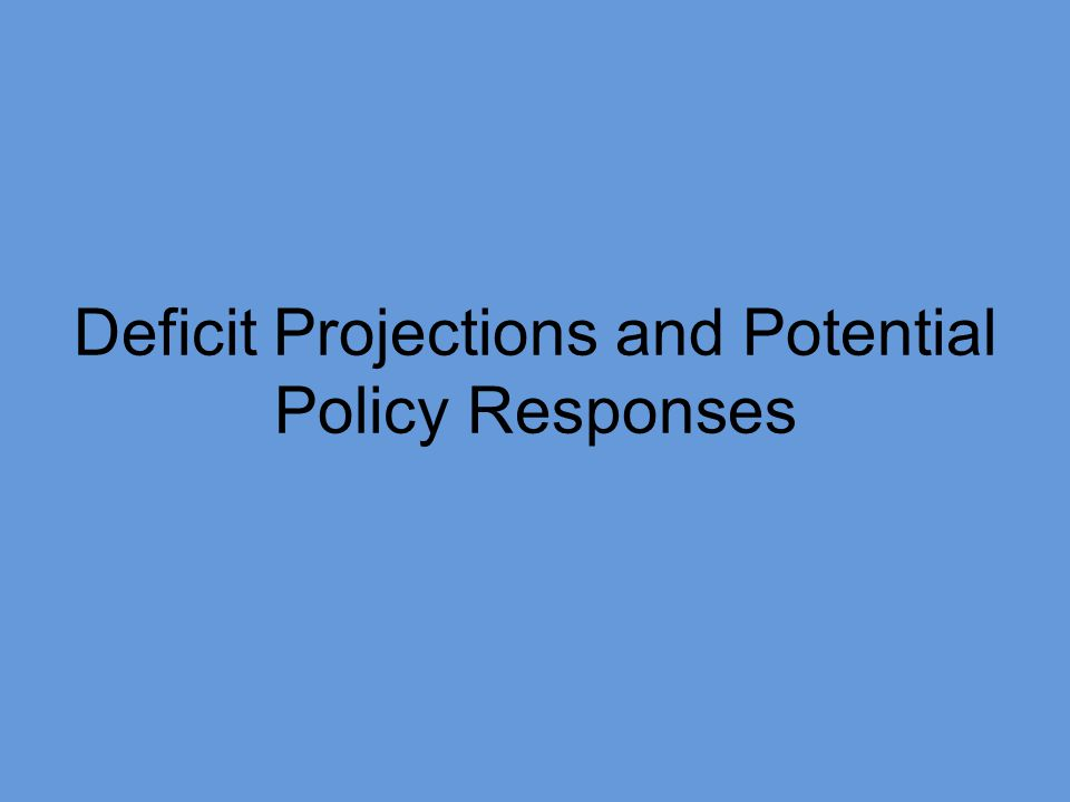 Deficit Projections and Potential Policy Responses