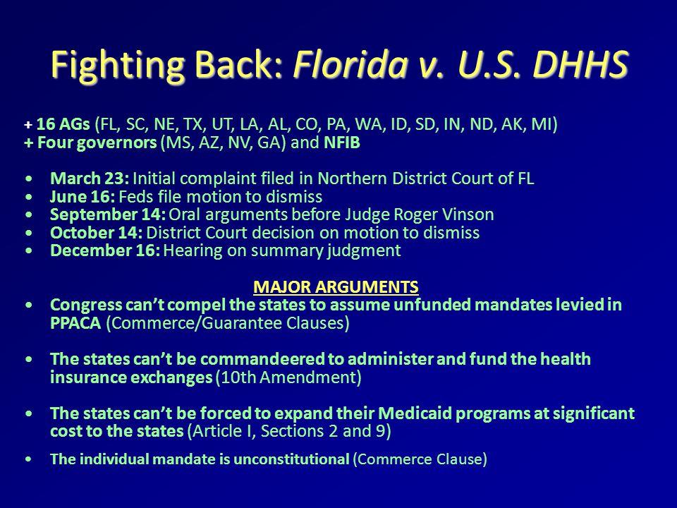 Fighting Back: Florida v. U.S.