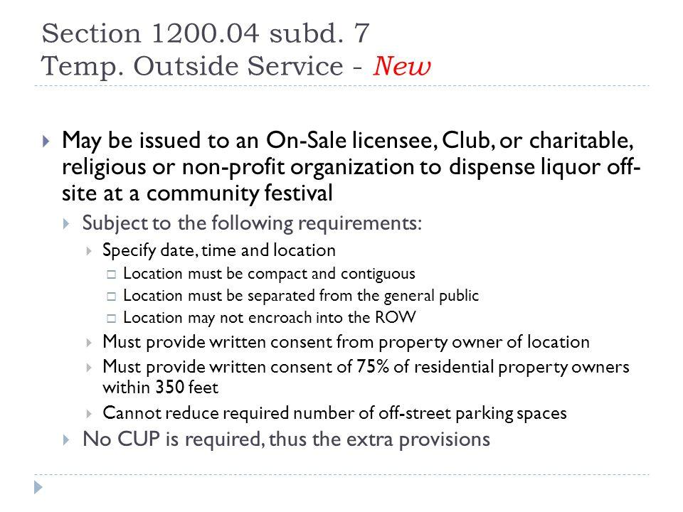 Section 1200.04 subd. 7 Temp.