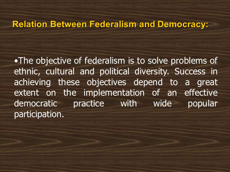 Challenges The main challenges facing the smooth running of federalism in Sudan are: Lack of adequate financial resources in various states.