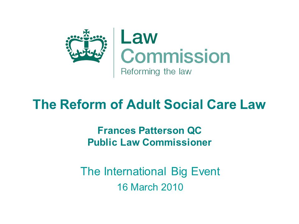 Adult Social Care: A Consultation Paper Published 24 February 2010 Four month public consultation running until 1 July 2010 Our approach to consultation