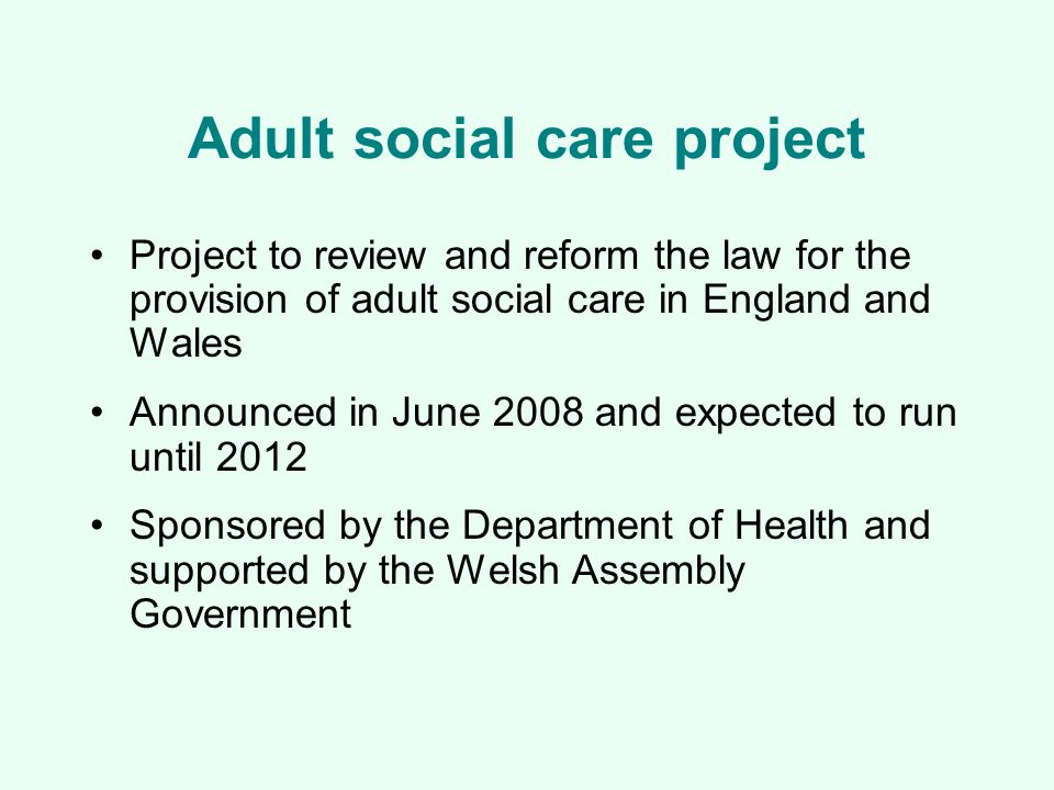 What is adult social care.