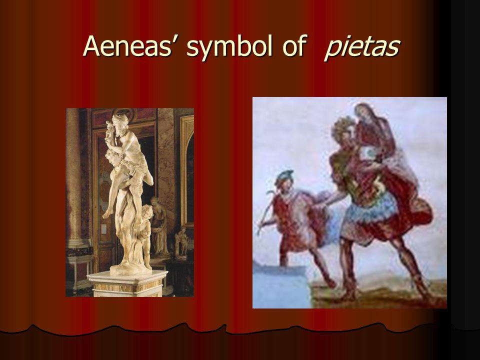 Aeneas' symbol of pietas