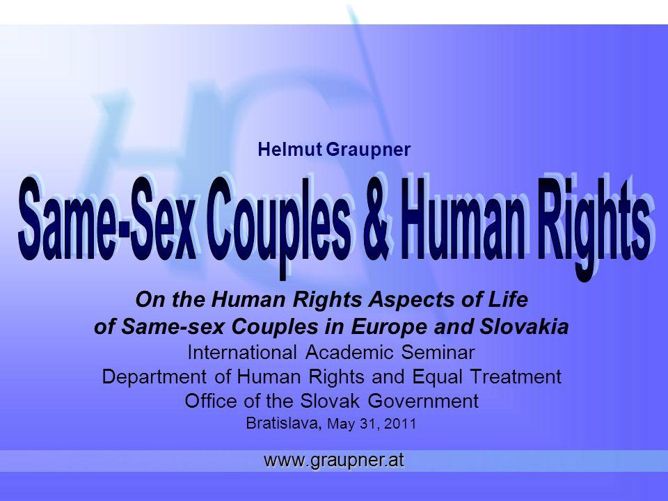 www.graupner.at Partnerships Disadvantageous treatment of same-sex couples vs.