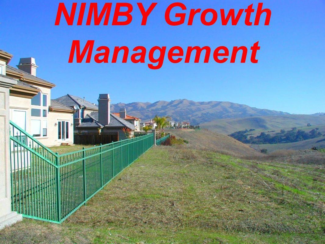 NIMBY Growth Management