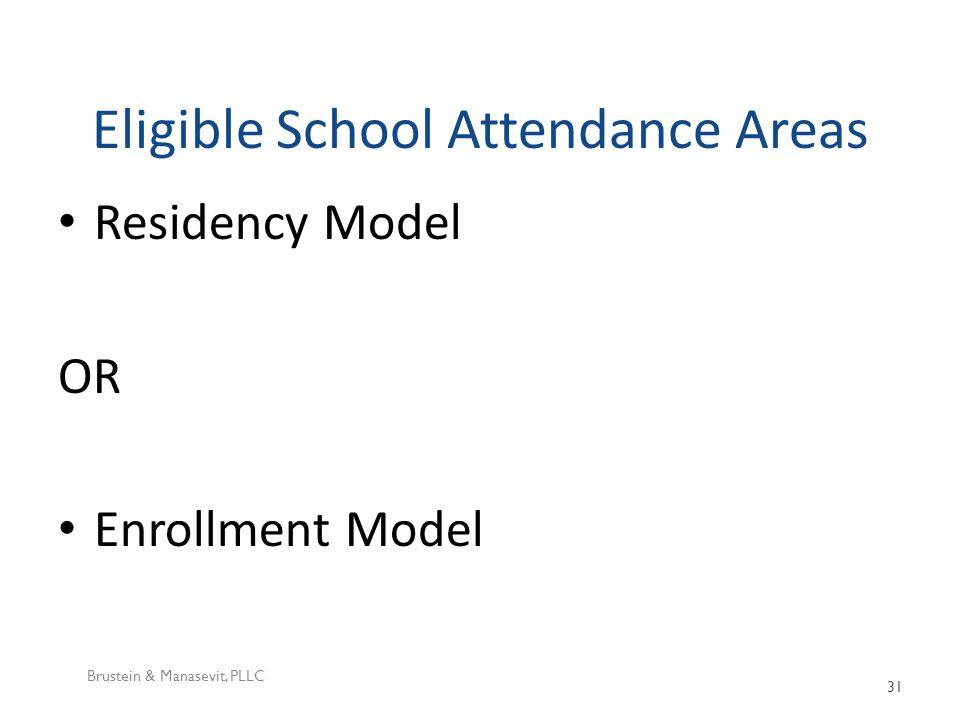 Eligible School Attendance Areas Residency Model OR Enrollment Model Brustein & Manasevit, PLLC 31