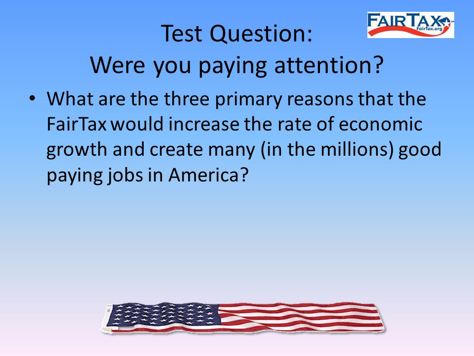 Test Question: Were you paying attention.