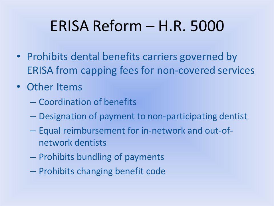 ERISA Reform – H.R.