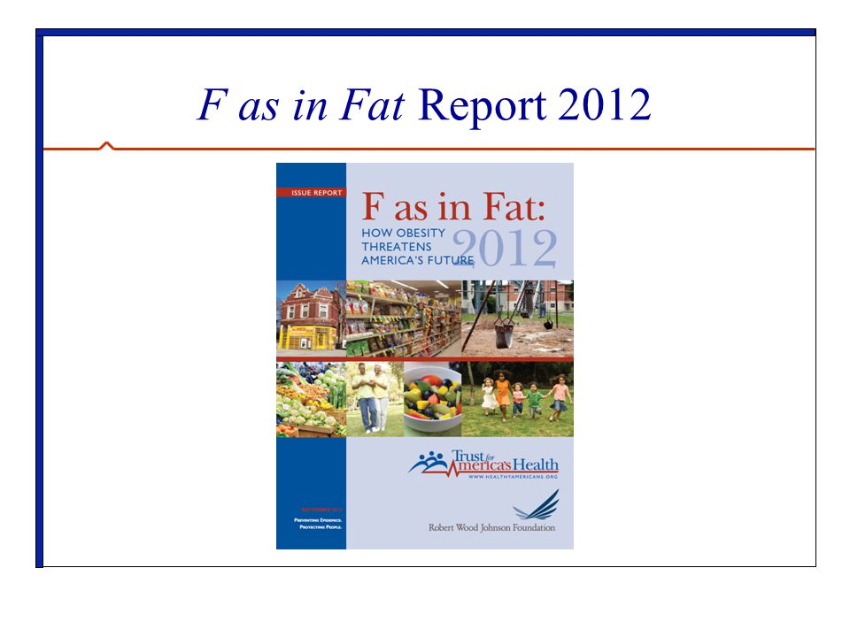 F as in Fat Report 2012