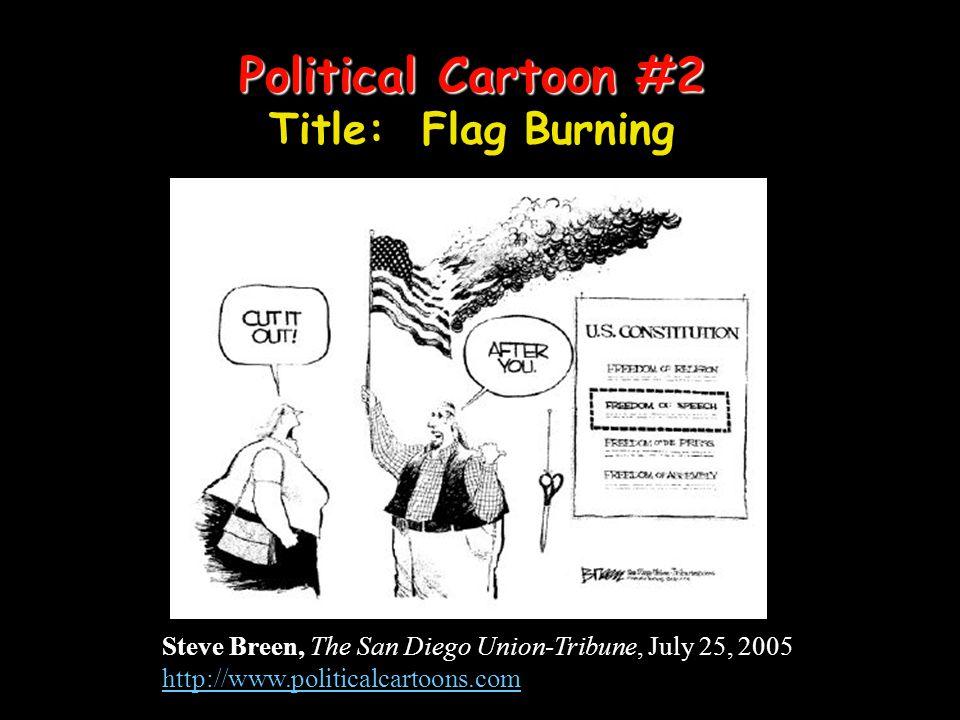 Political Cartoon #2 Political Cartoon #2 Title: Flag Burning Steve Breen, The San Diego Union-Tribune, July 25, 2005 http://www.politicalcartoons.com