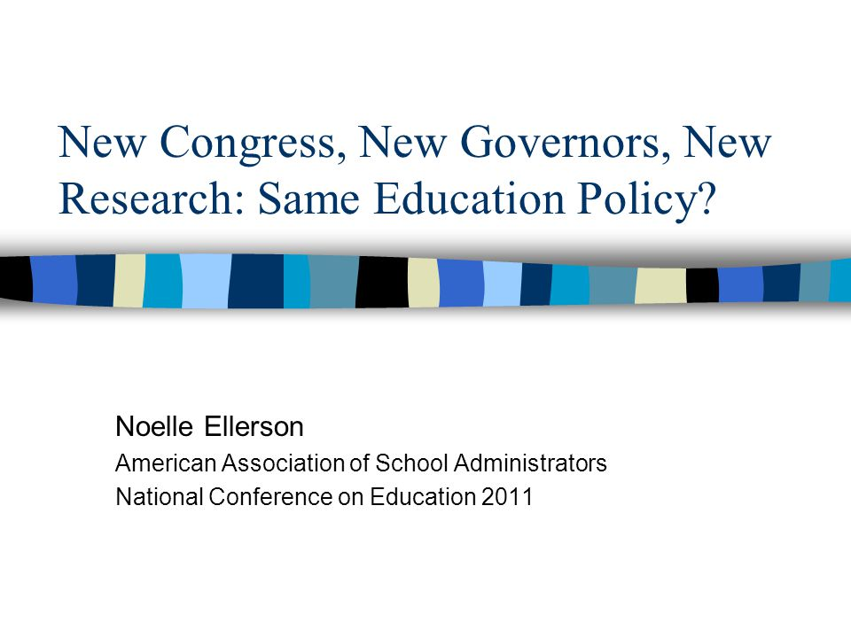 New Congress, New Governors, New Research: Same Education Policy.