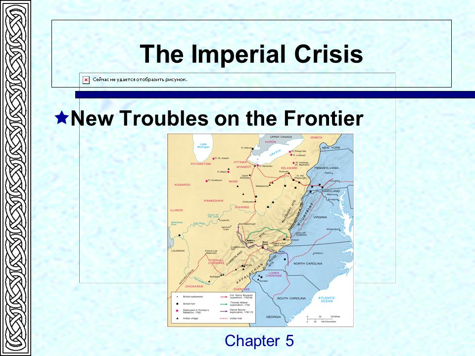 The Imperial Crisis  The Empire Strikes Back  Coercive Acts  Fear of Conspiracy  Quebec Act  First Colonial Congress called Chapter 5