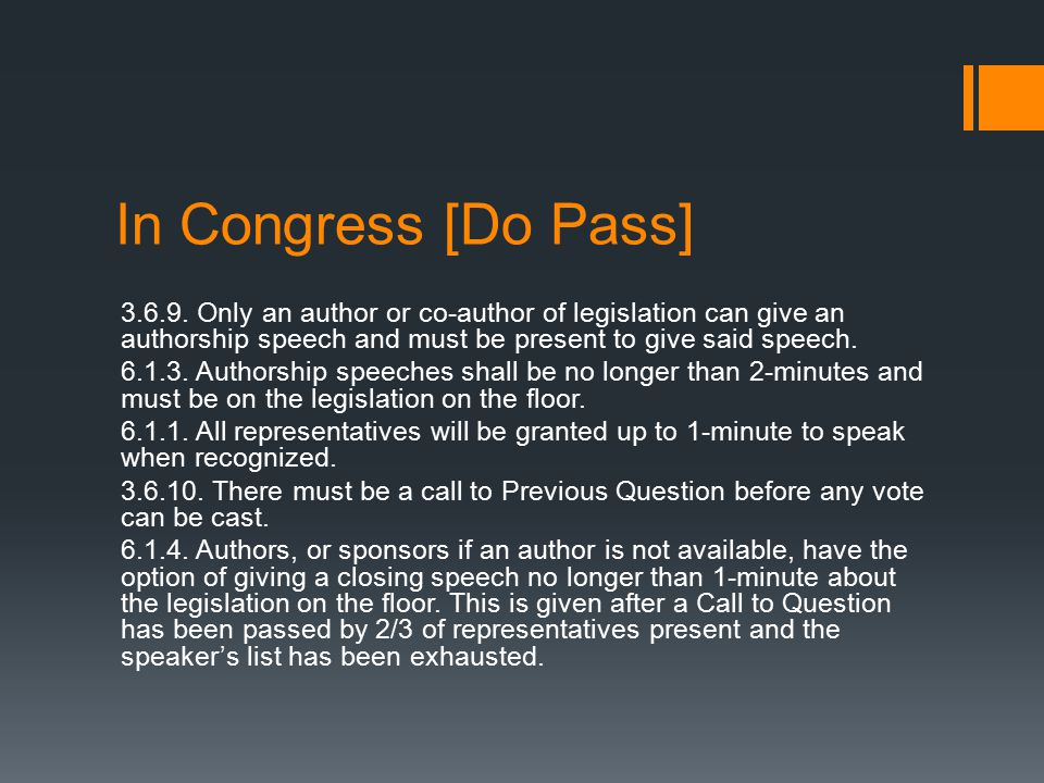 In Congress [Do Pass] 3.6.9.