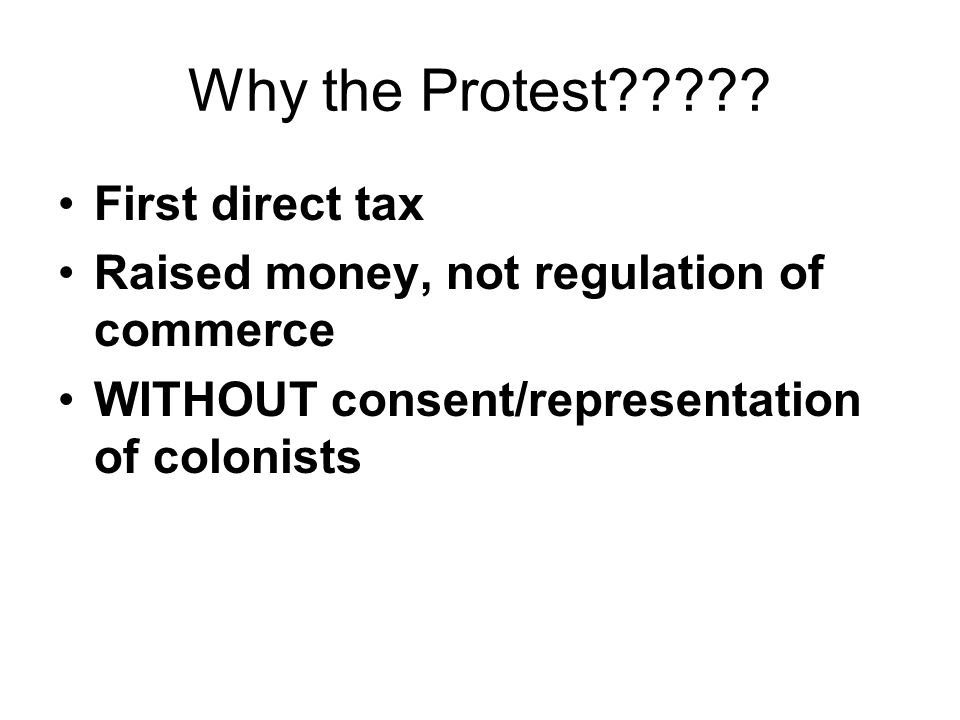 Why the Protest .