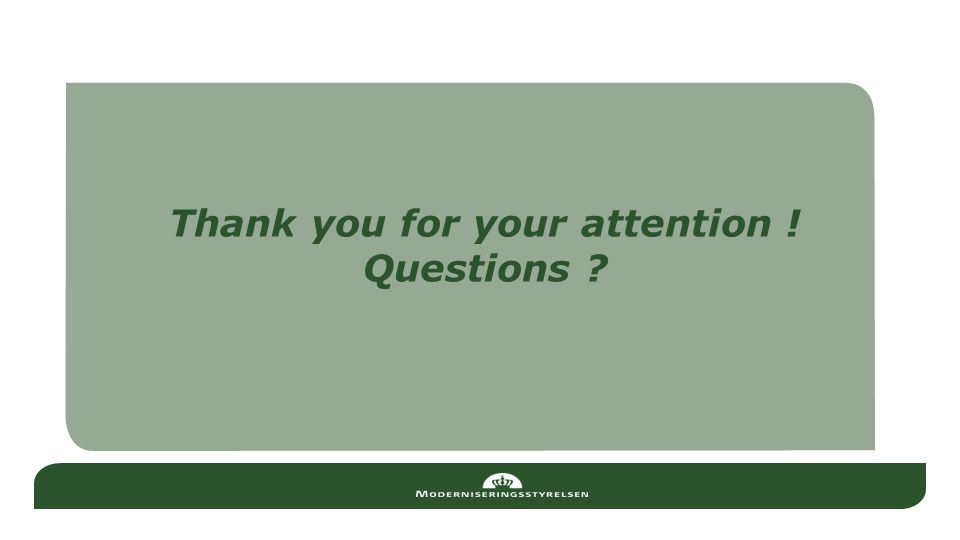 Thank you for your attention ! Questions