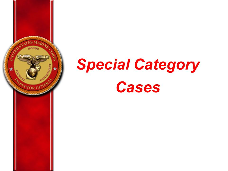 Special Category Cases