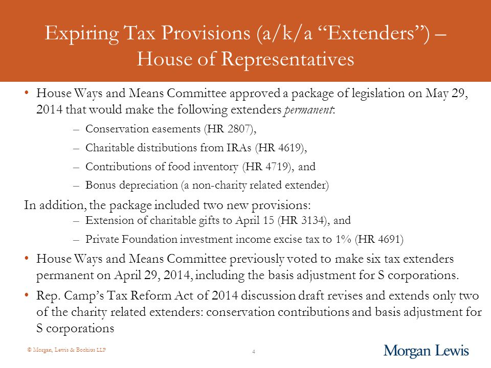 © Morgan, Lewis & Bockius LLP Form 1023-EZ Submitted for OMB review on March 31, 2014 (see 79 Fed.