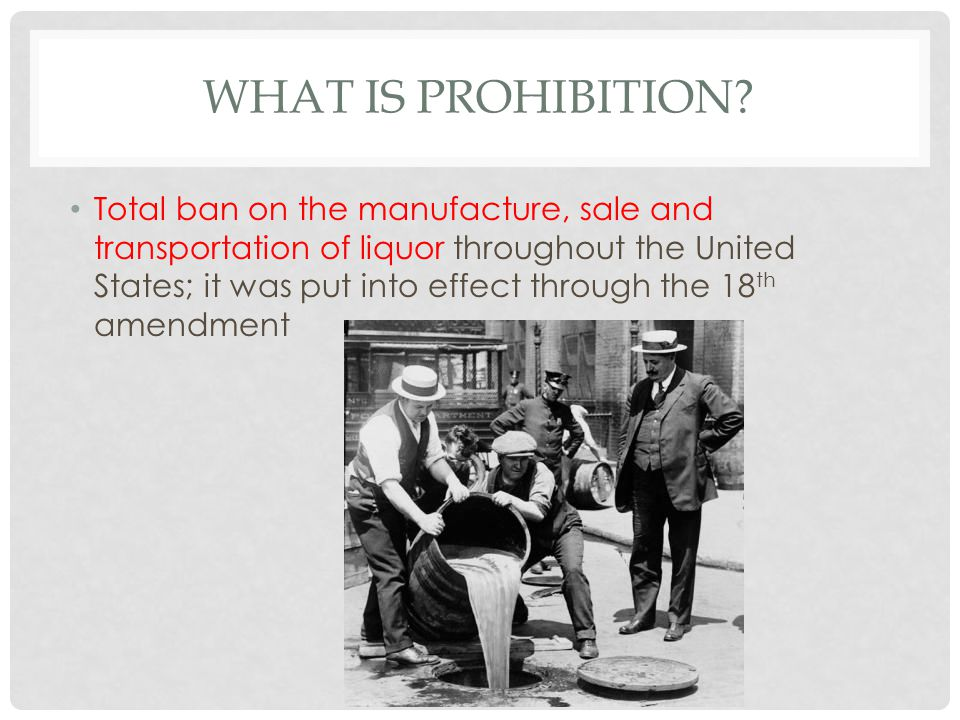 WHAT IS PROHIBITION.