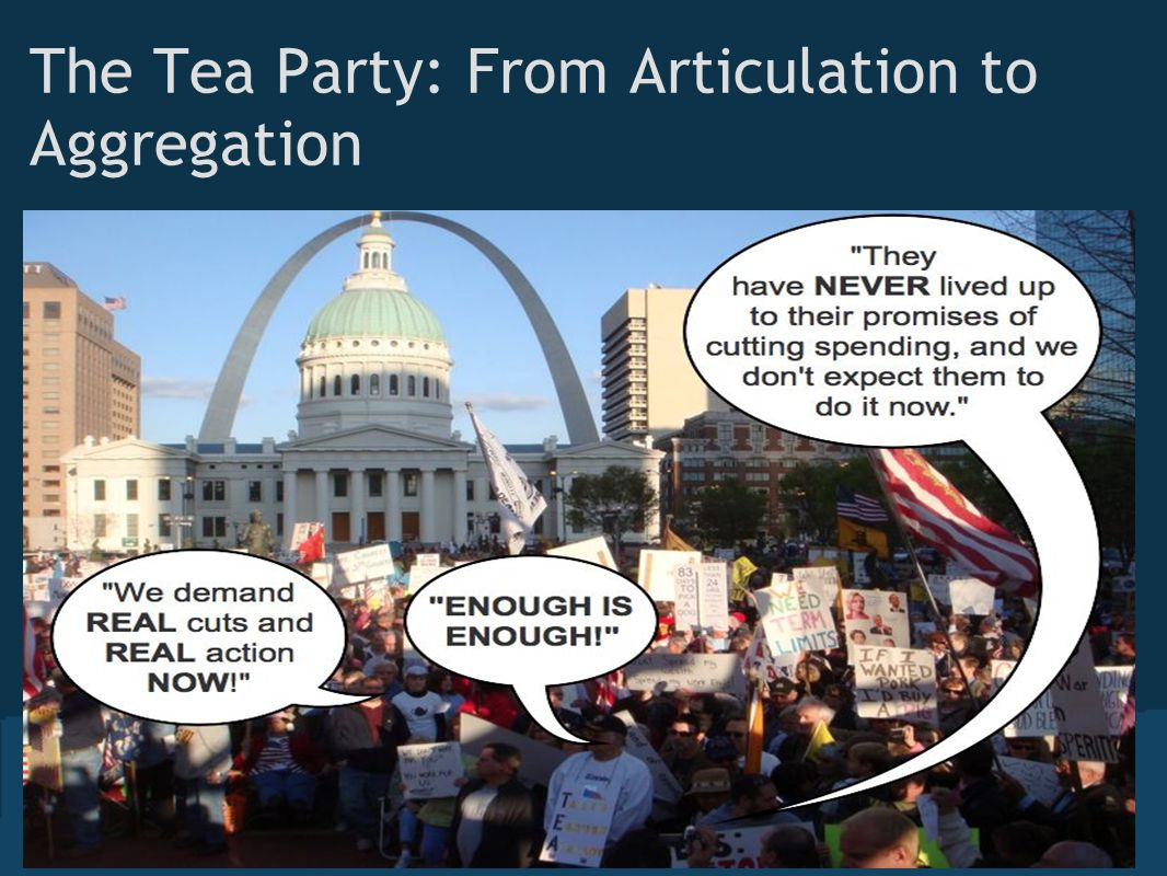 The Tea Party: From Articulation to Aggregation