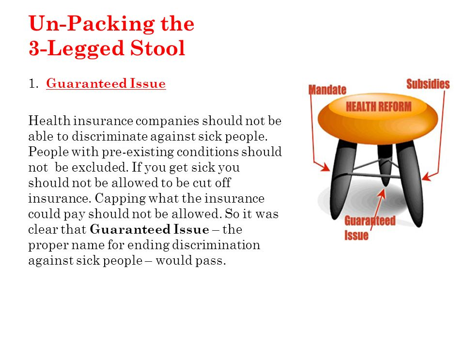 Un-Packing the 3-Legged Stool 1.