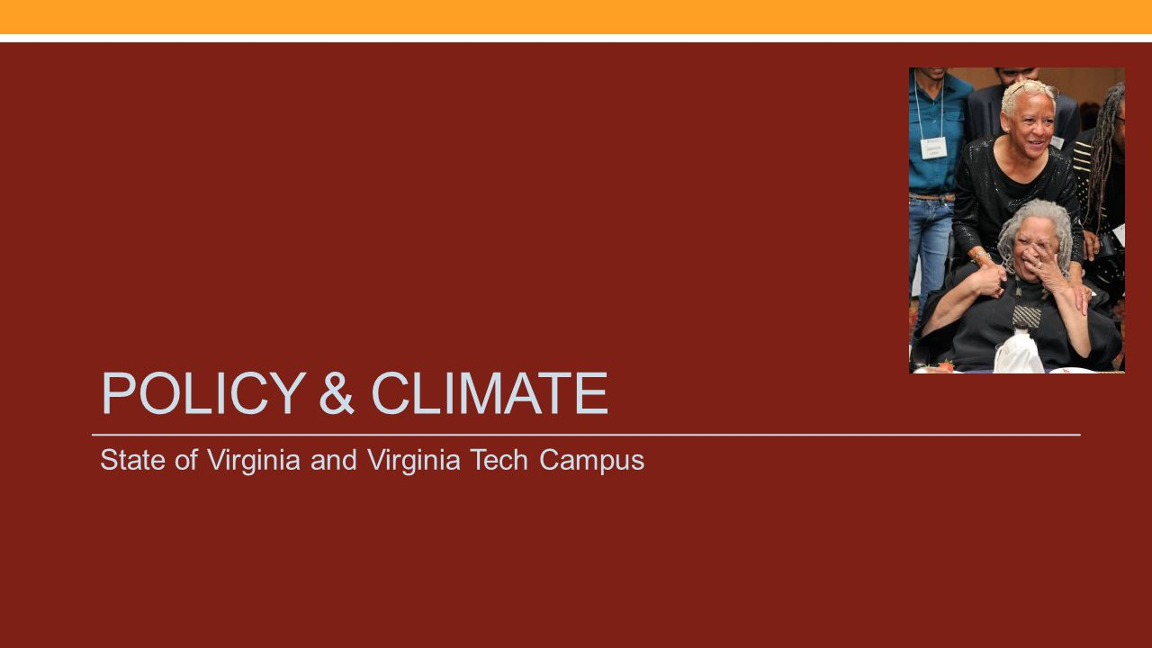POLICY & CLIMATE State of Virginia and Virginia Tech Campus