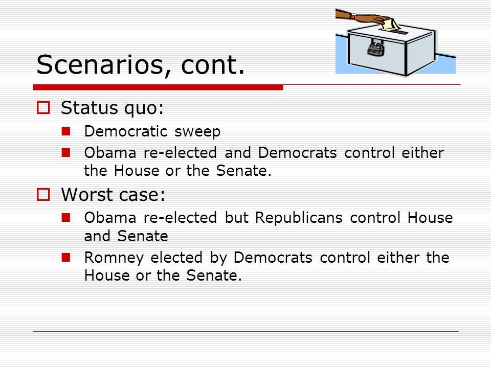 Scenarios, cont.