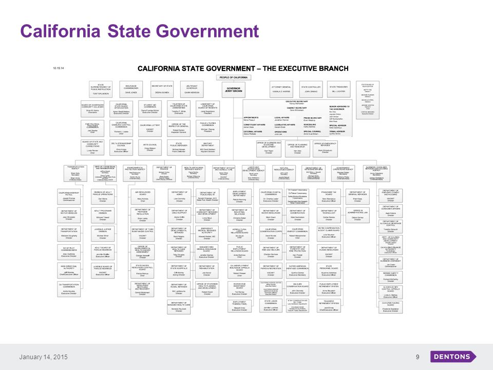 California State Government 9January 14, 2015