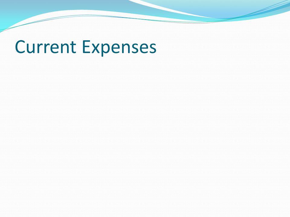 Current Expenses