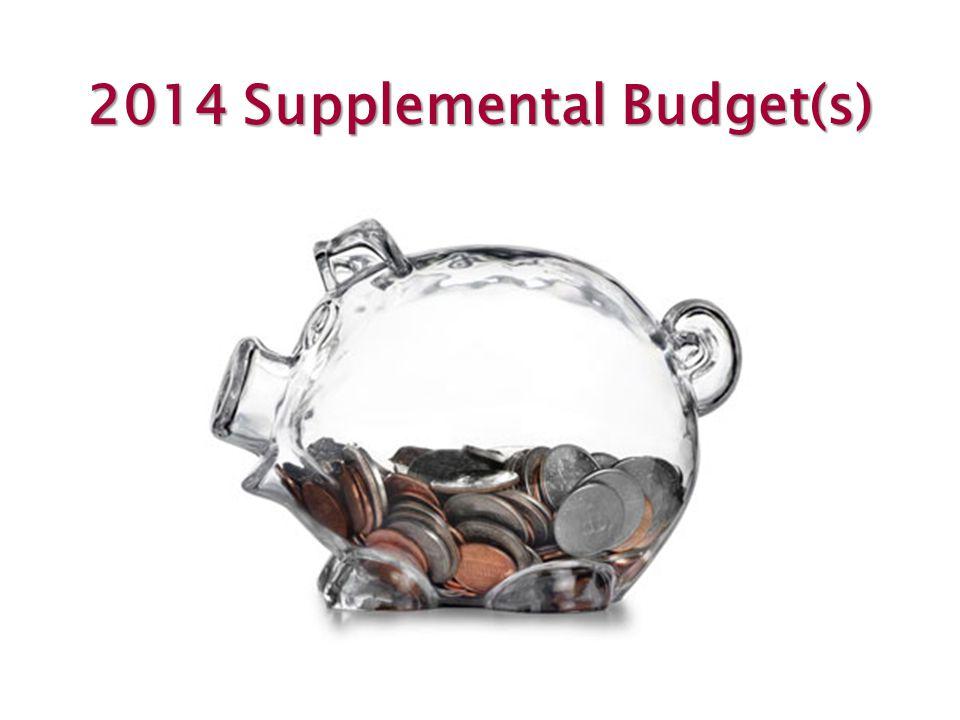 2014 Supplemental Budget(s)