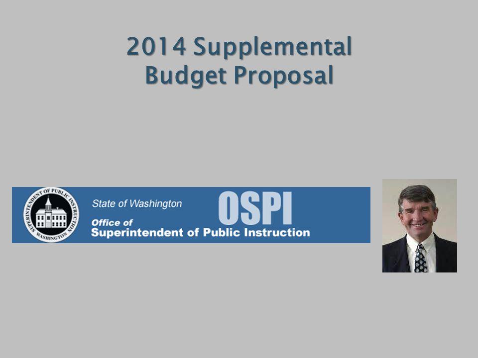 2014 Supplemental Budget Proposal