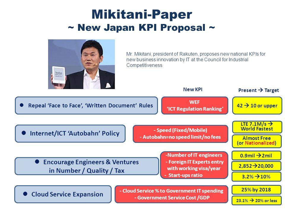 5 Mikitani-Paper ~ New Japan KPI Proposal ~ Mr.