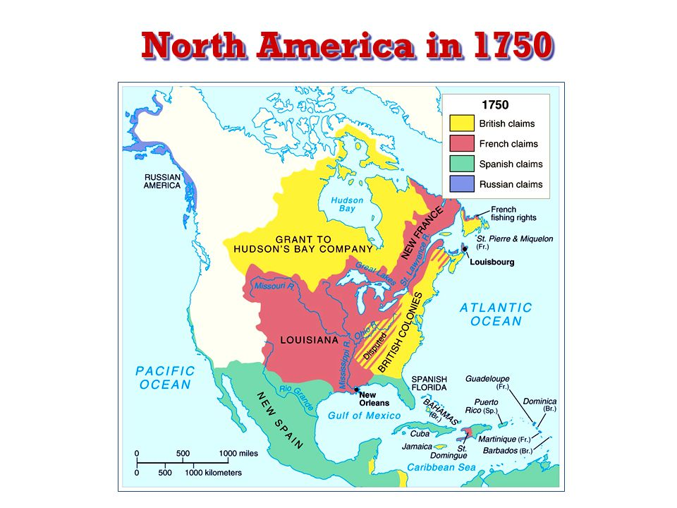 North America in 1750