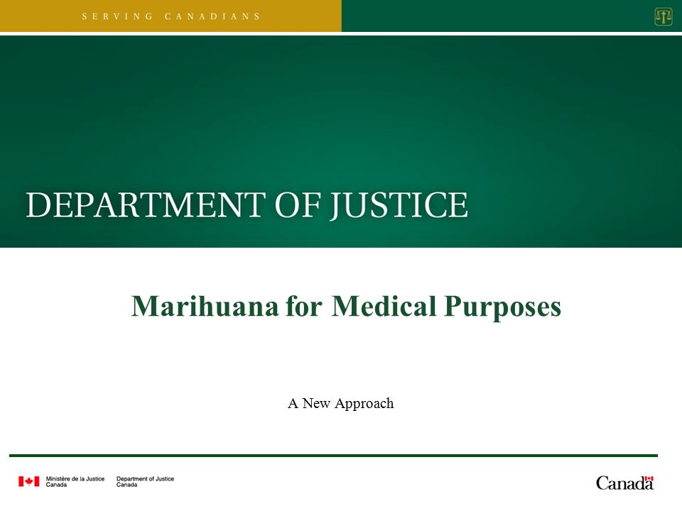 Marihuana for Medical Purposes A New Approach