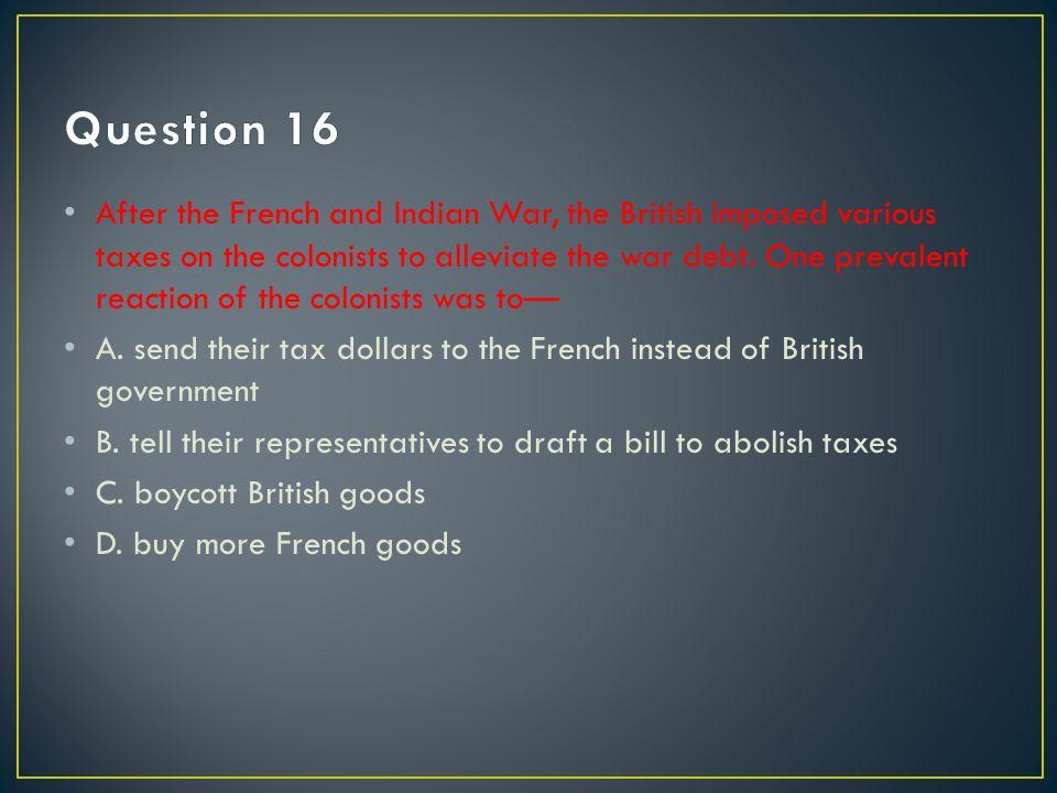 C. boycott British goods