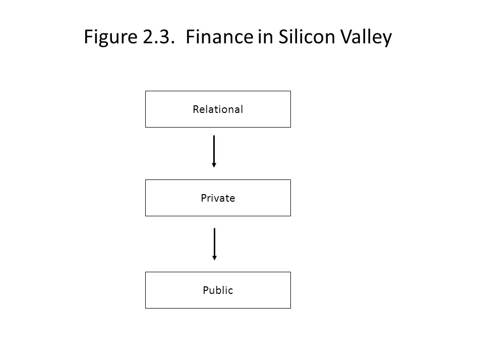 Figure 2.3. Finance in Silicon Valley Relational Private Public