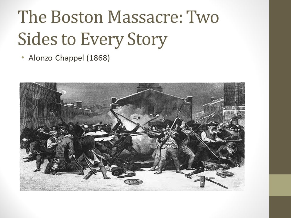 The Boston Massacre: Two Sides to Every Story Alonzo Chappel (1868)