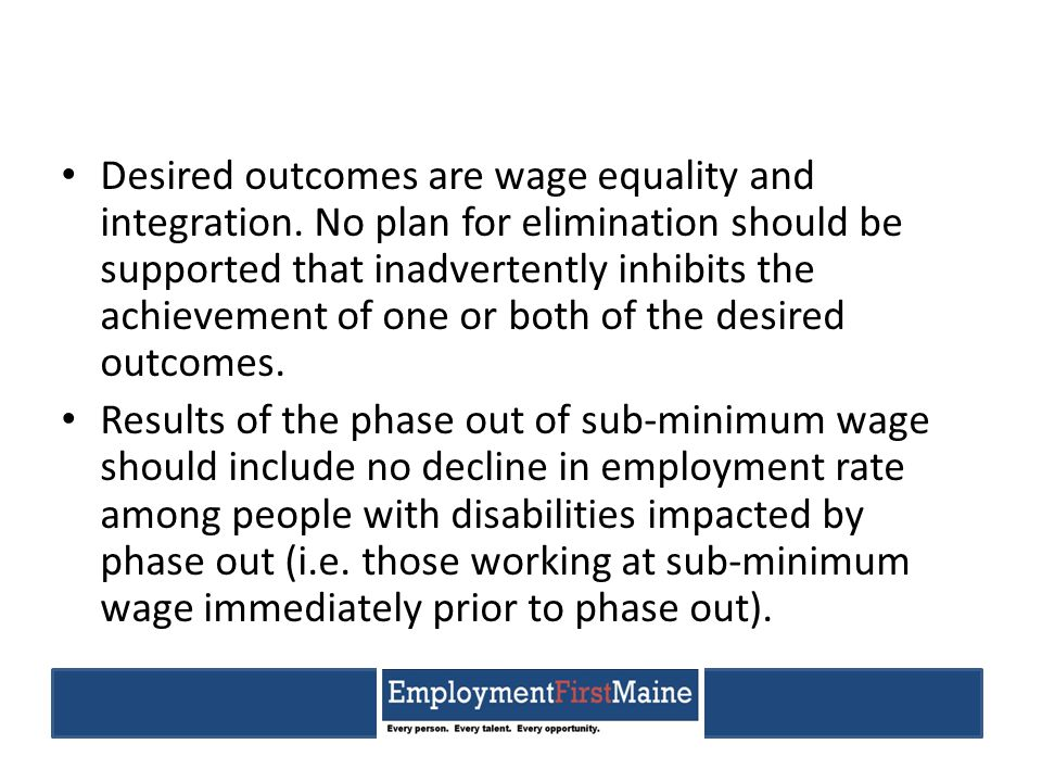 New Hampshire House Bill 1174: An Act establishing a committee to study the payment of subminimum wages to persons with disabilities (2014) Statement of Purpose.