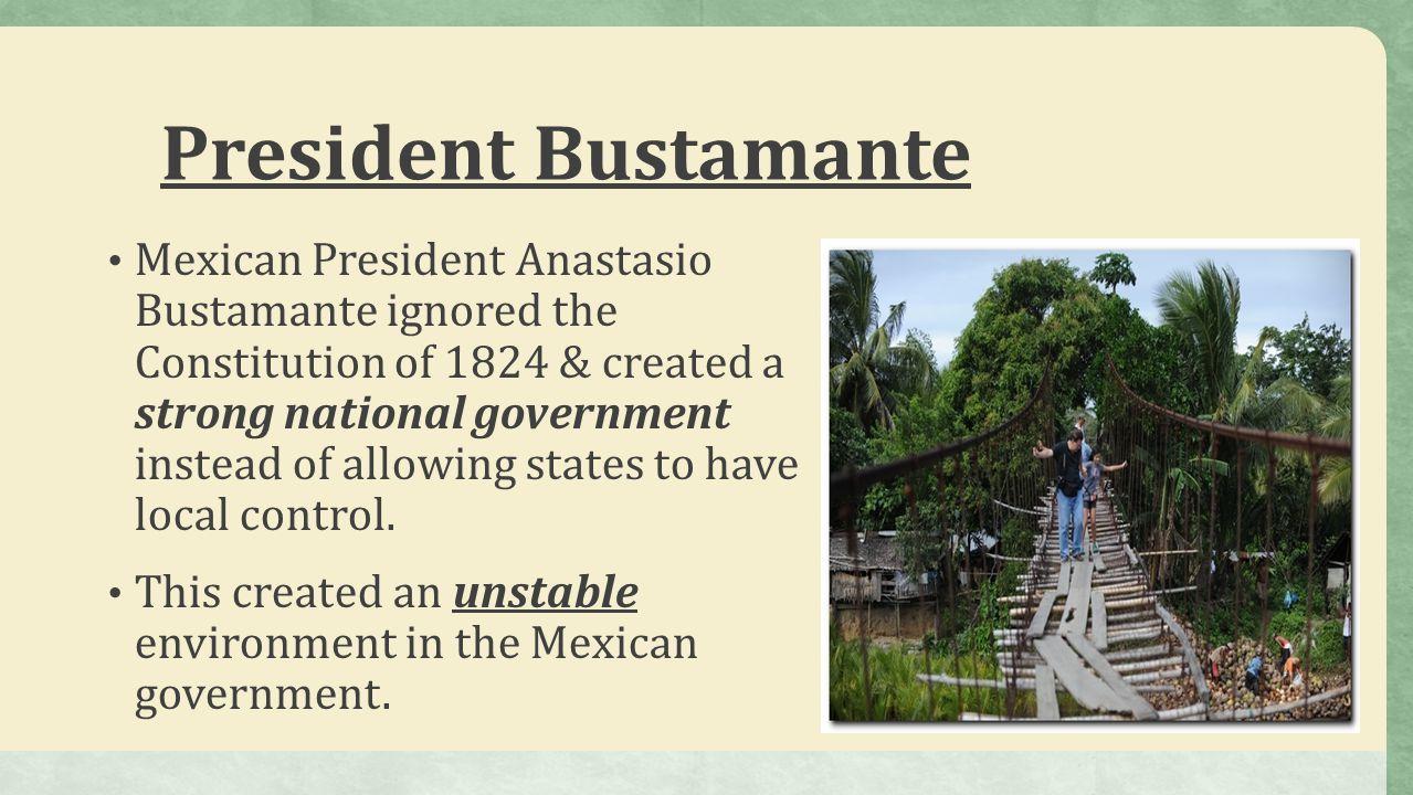 Santa AnnaSanta Anna Antonio Lopez de Santa Anna took advantage of this unstable situation in order to become Mexico's leader.