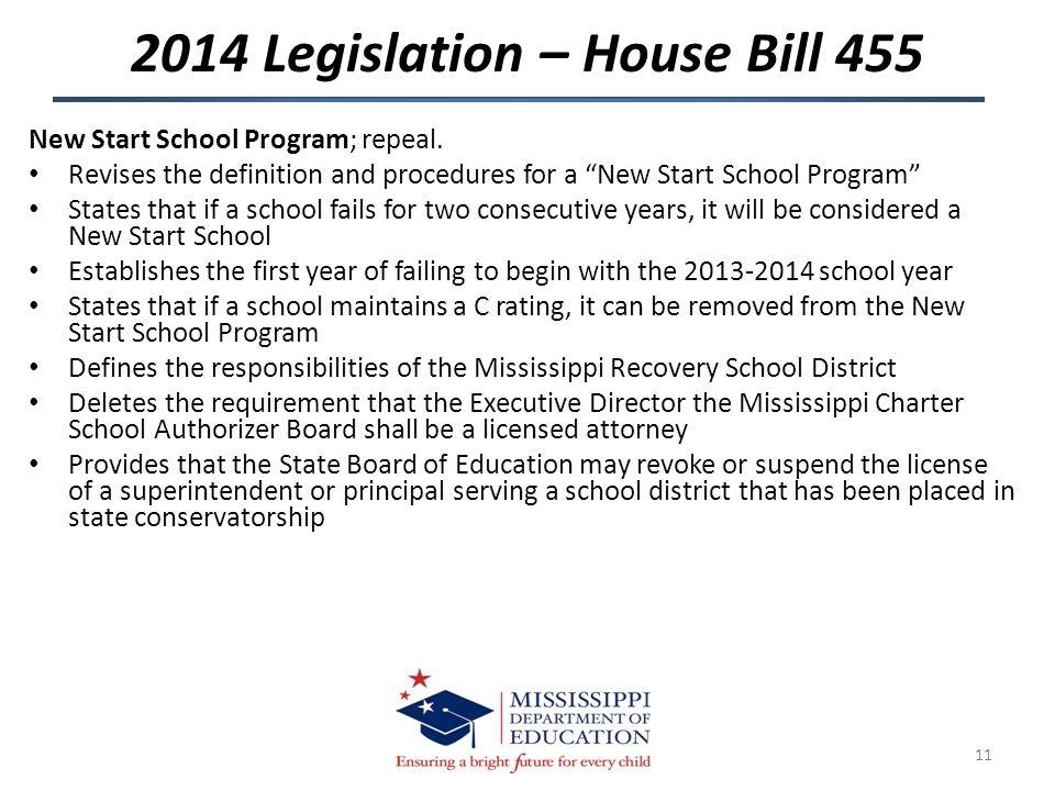 New Start School Program; repeal.