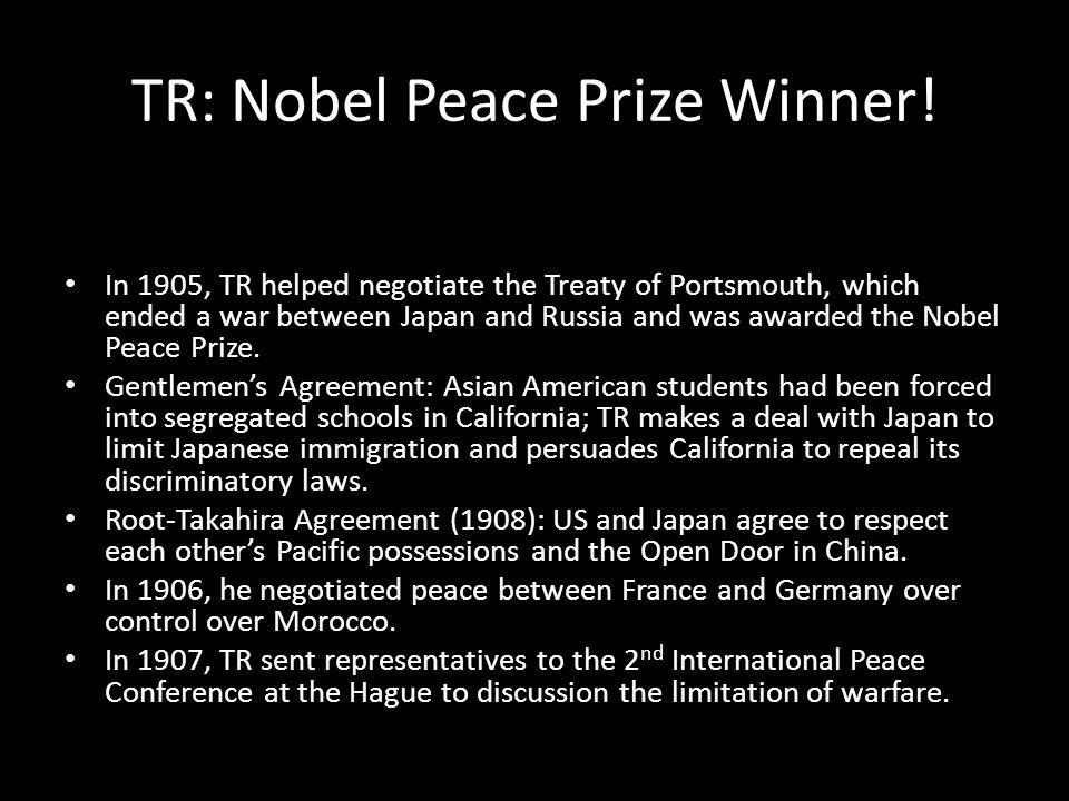 TR: Nobel Peace Prize Winner.