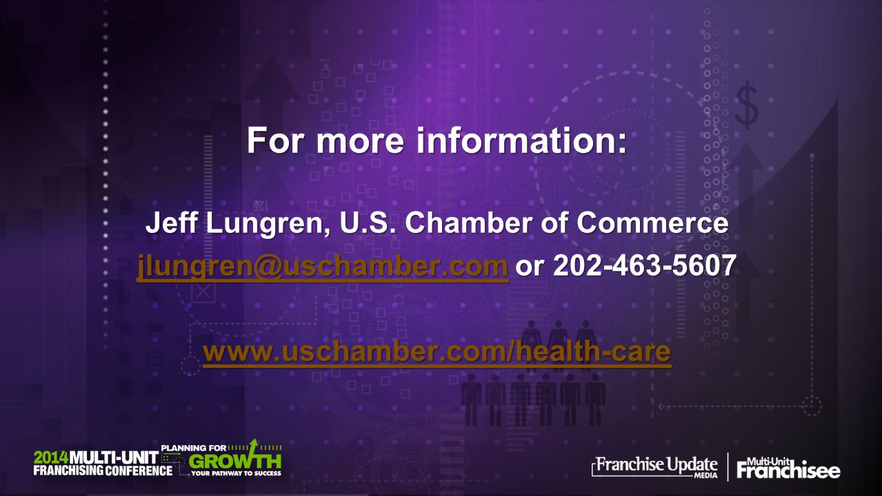 For more information: Jeff Lungren, U.S.