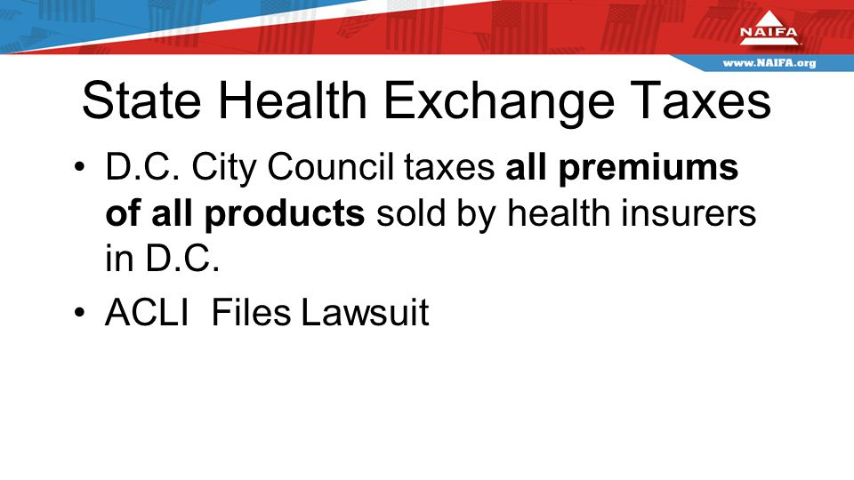 State Health Exchange Taxes D.C.