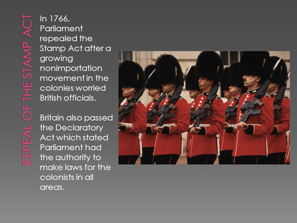  Virtual Representation- Members of Parliament represent all citizens of the British Empire.  Actual Representation- the practice of having elected