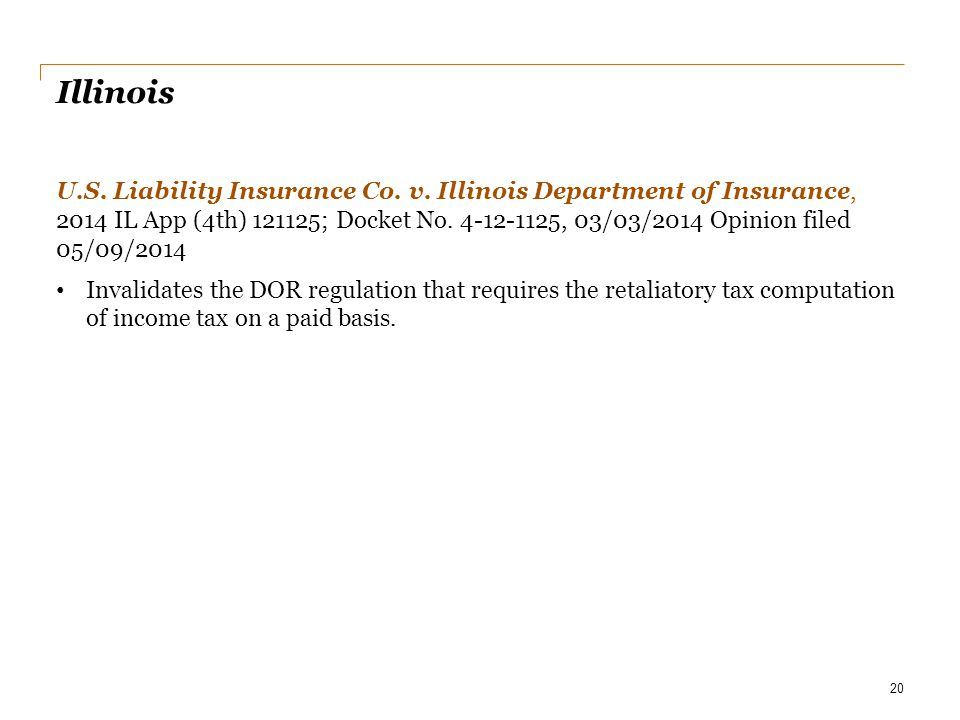 Illinois U.S. Liability Insurance Co. v. Illinois Department of Insurance, 2014 IL App (4th) 121125; Docket No. 4-12-1125, 03/03/2014 Opinion filed 05