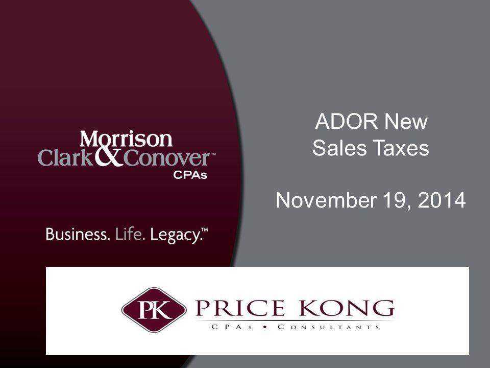 ADOR New Sales Taxes November 19, 2014