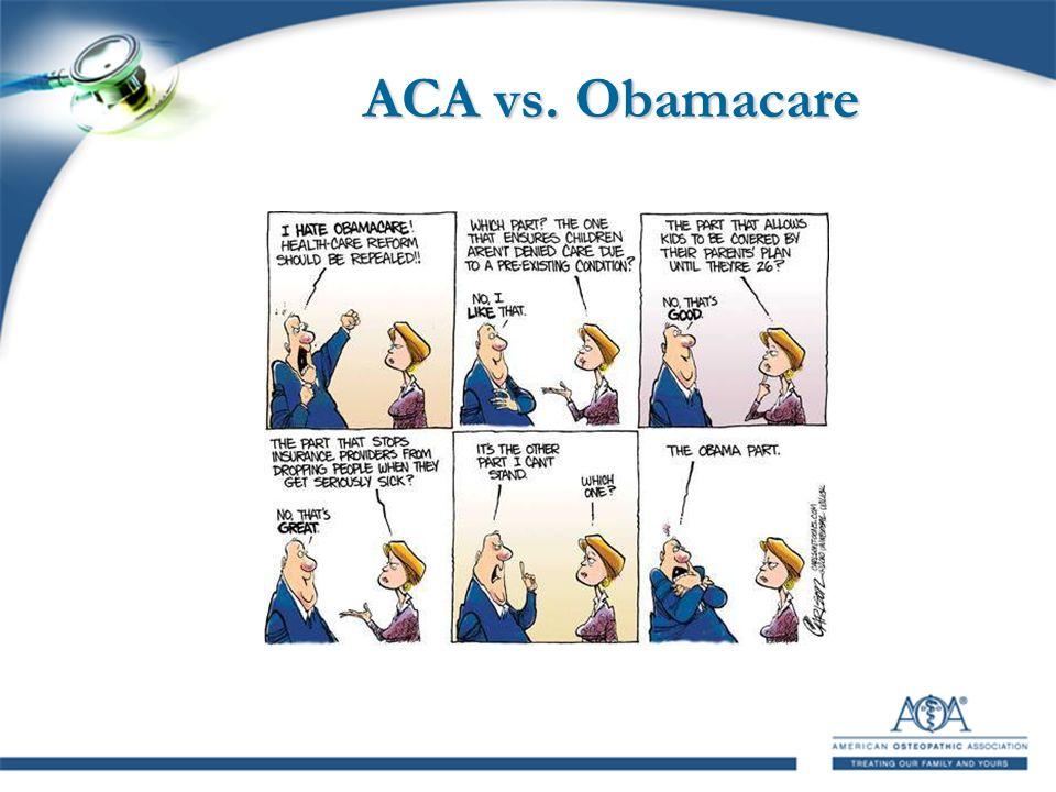 ACA vs. Obamacare